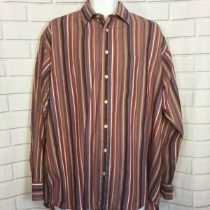 Burberry London Mens Button Front Shirt Large